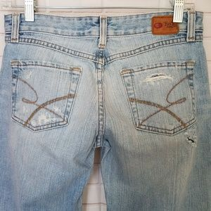 BKE STAR Bell Flare Distressed Jeans Tall Long